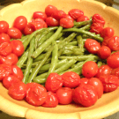 Herb Roasted Green Beans and Tomatoes 2