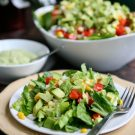 Avocado and Corn Salad with Creamy Avocado Dressing and a Hass Avocados Recipe Contest