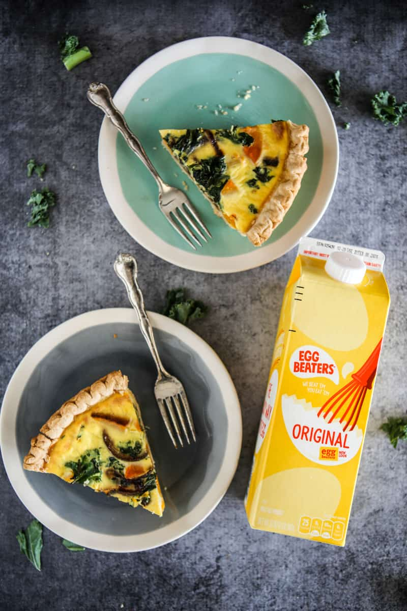 Butternut Squash and Kale Quiche with Red Caramelized Onions Recipe