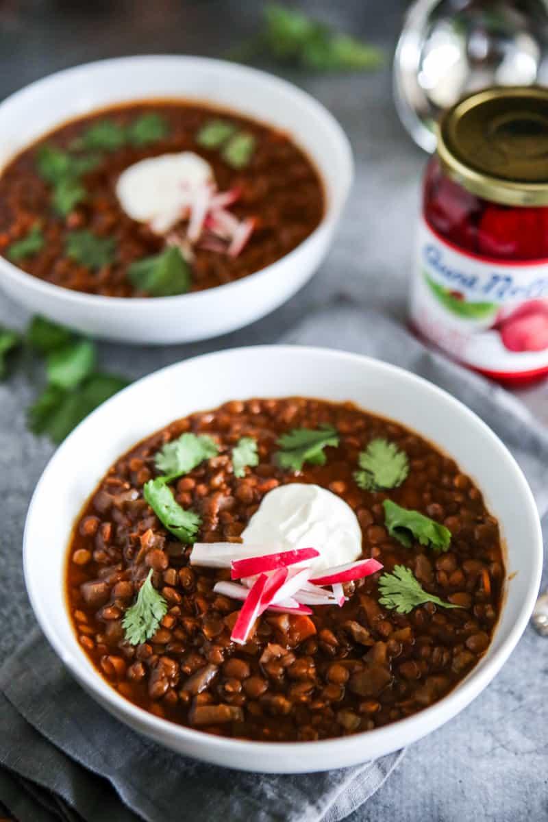 Beet Lentil Chili Recipe