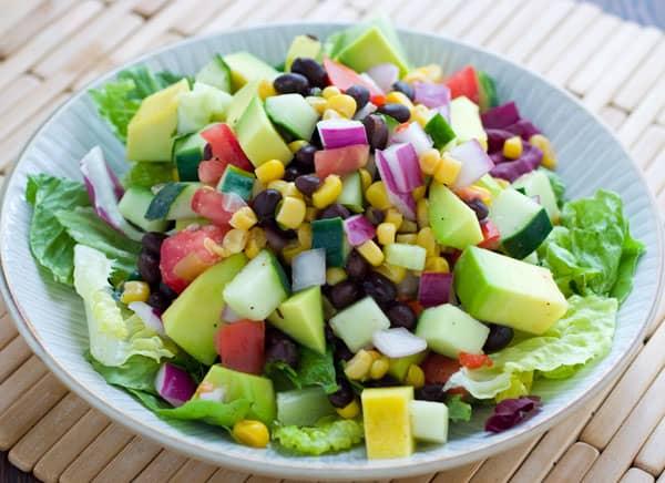 Eclectic Recipes Black Bean Corn And Avocado Salad