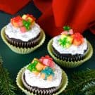 Christmas Cupcakes with Candy Presents