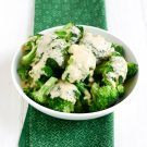 Broccoli with Cheddar Cheese Sauce
