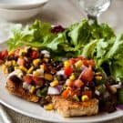 Grilled Chicken with Black Bean Salsa 1