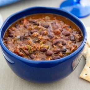 Slow Cooker Black Bean Lamb Chili 1