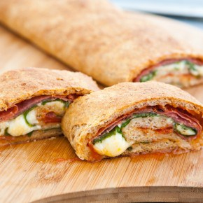 Spinach and Salami Stromboli 2
