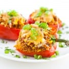Bell Peppers Stuffed with Taco Rice 1