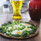 Spinach and Egg Pizza 3