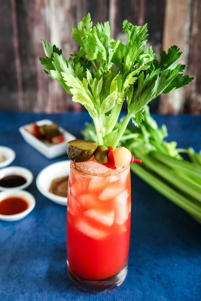 Bloody Caesar Cocktail Recipe made with Clamato