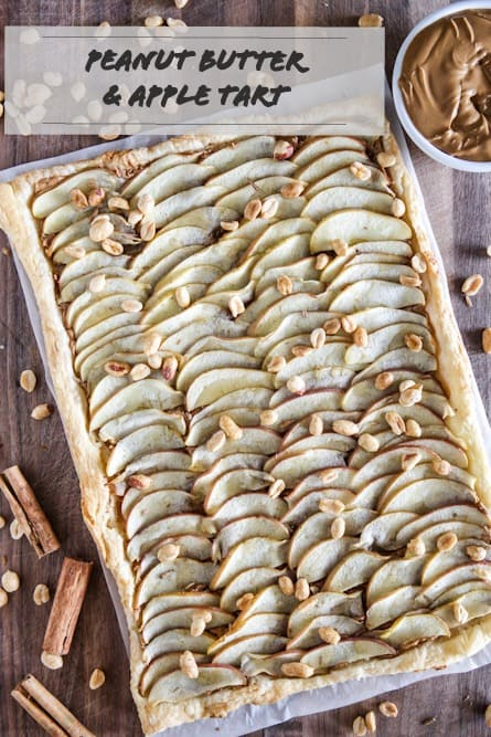 #ad This Peanut Butter and Apple Tart Recipe is a perfect after school treat the whole family will love!  Now it's your turn to spread the peanut butter love! Share your favorite peanut butter recipe in the comments with the hashtag #HowDoYouPB  https://eclecticrecipes.com/peanut-butter-and-apple-tart